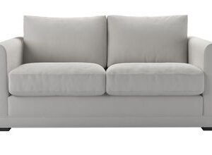 Aissa 2 Seat Sofa Bed in Alabaster Brushed Linen Cotton