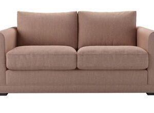 Aissa 2 Seat Sofa Bed in Blush Pure Belgian Linen
