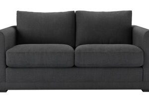 Aissa 2 Seat Sofa Bed in Charcoal Brushed Linen Cotton
