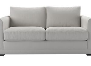 Aissa 2 Seat Sofa (breaks down) in Alabaster Brushed Linen Cotton