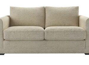 Aissa 2 Seat Sofa (breaks down) in Alpaca Textured Boucle