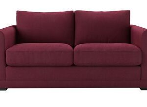 Aissa 2 Seat Sofa (breaks down) in Boysenberry Brushed Linen Cotton