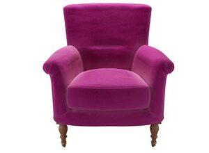 Alderney Armchair in Peony Cotton Matt Velvet