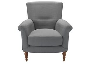 Alderney Armchair in Shadow Brushed Linen Cotton