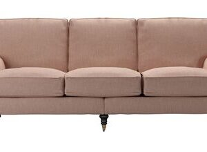 Bluebell 4 Seat Sofa in Blush Pure Belgian Linen