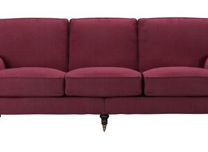 Bluebell 4 Seat Sofa in Boysenberry Brushed Linen Cotton