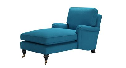 Bluebell Chaise Armchair in Marina Brushed Linen Cotton
