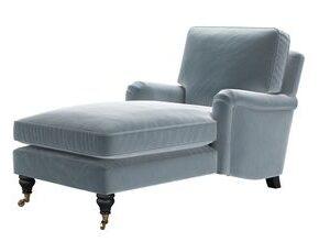 Bluebell Chaise Armchair in Windermere Cotton Matt Velvet