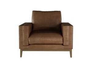 Costello Armchair in Tan Vintage Leather