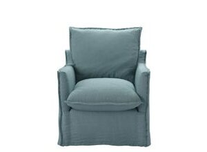 Isaac Armchair in Lagoon Brushed Linen Cotton