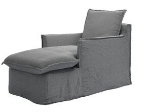 Isaac Chaise Armchair in Harbour Grey Whitstable