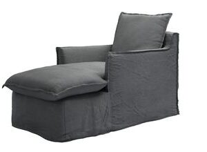 Isaac Chaise Armchair in Monsoon Brushed Linen Cotton