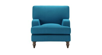 Isla Small Armchair in Marina Brushed Linen Cotton