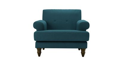 Remy Armchair in Evergreen Brushed Linen Cotton