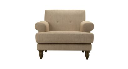 Remy Armchair in Flax Pure Belgian Linen