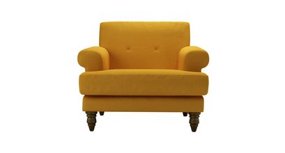 Remy Armchair in Mango Brushed Linen Cotton