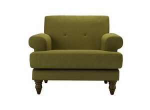 Remy Armchair in Royal Fern Brushed Linen Cotton