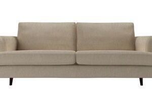 Reuben 3 Seat Sofa in Cashew Baylee Viscose Linen