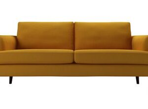 Reuben 3 Seat Sofa in Mango Brushed Linen Cotton