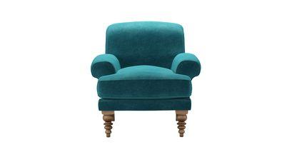 Saturday Armchair in Neptune Smart Velvet