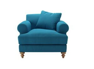 Teddy Armchair in Marina Brushed Linen Cotton