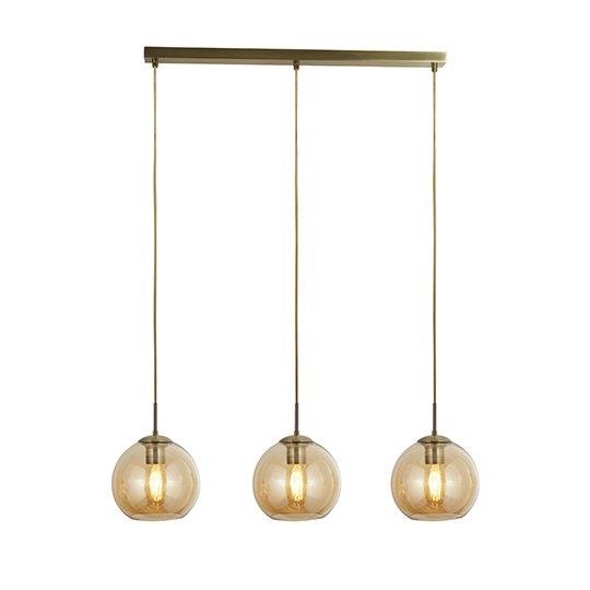 3 Lights Bar Pendant Ceiling Light In Antique Brass