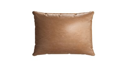 38x55cm Scatter Cushion in Tan Vintage Leather