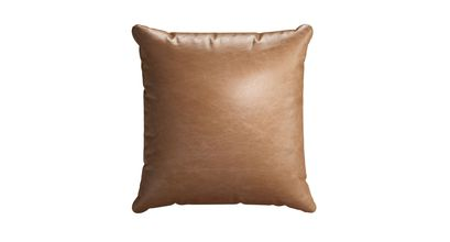 45x45cm Scatter Cushion in Tan Vintage Leather