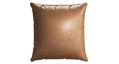55x55cm Scatter Cushion in Tan Vintage Leather