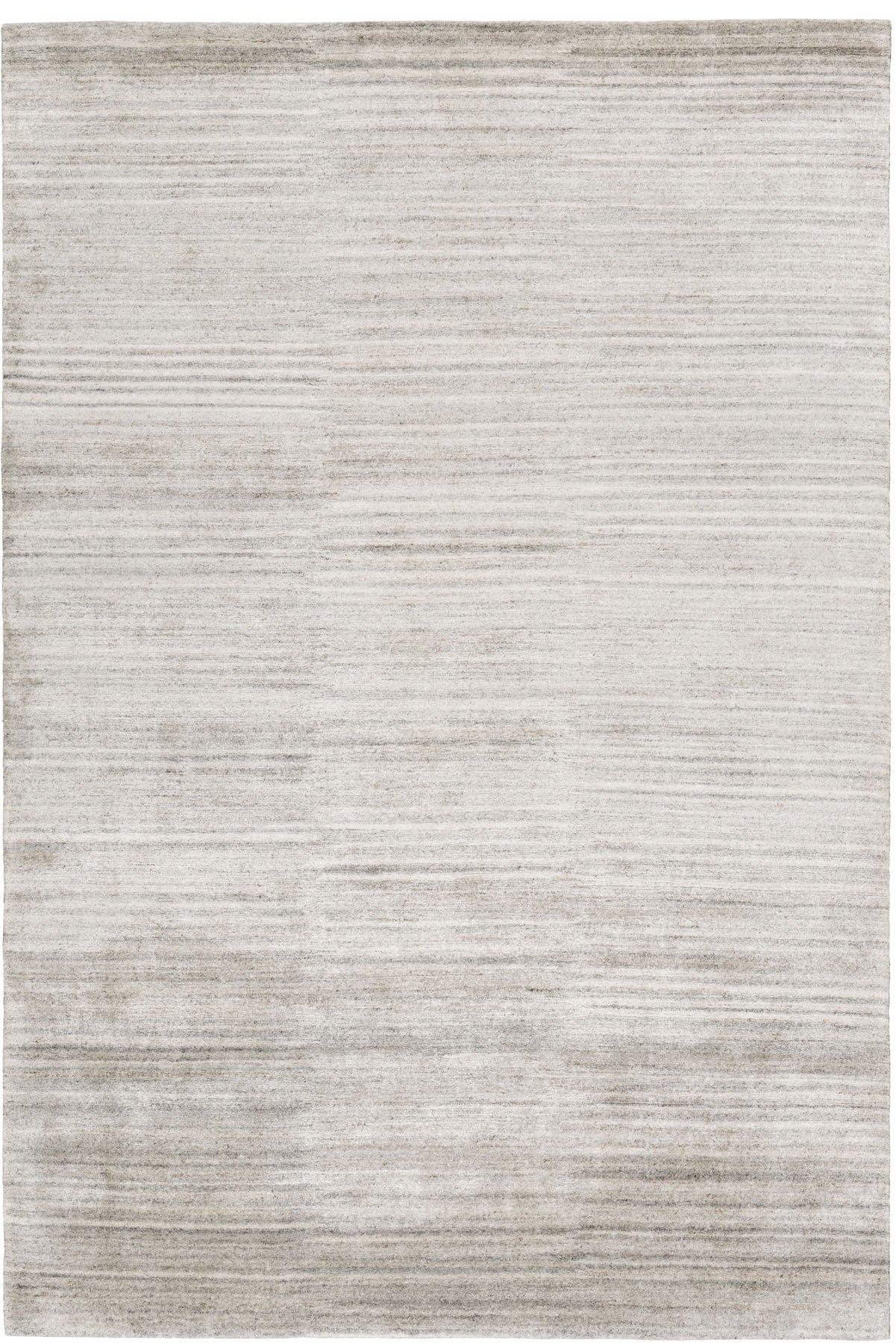 Aarambha 4.88x3.66m/16'x12' Grey Plain Bamboo silk Plain rug by The Rug Company