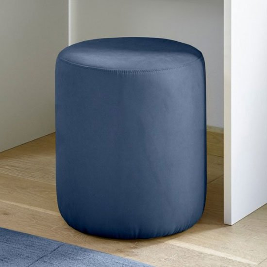 Altair Fabric Pouffe In Blue