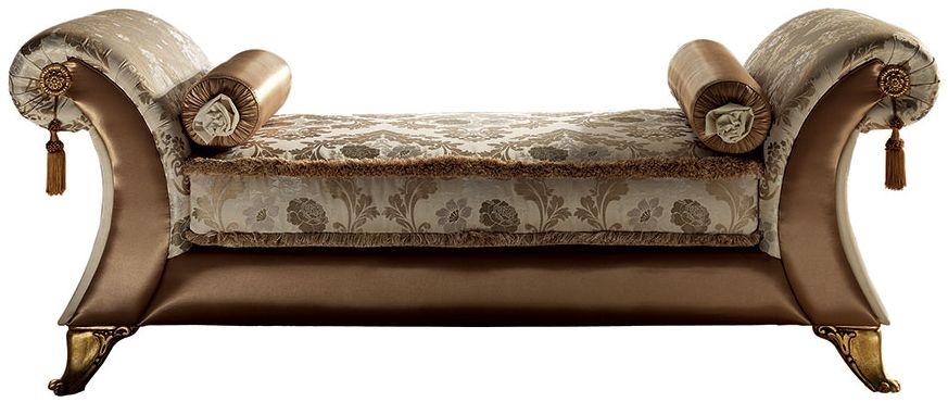Arredoclassic Tiziano Italian Fabric Vittoria Chaise Longue