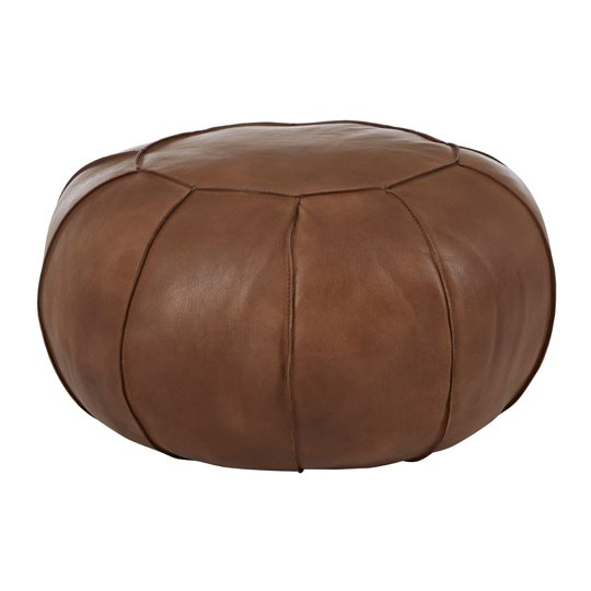 Australis Pouffe In Brown Tactile Leather