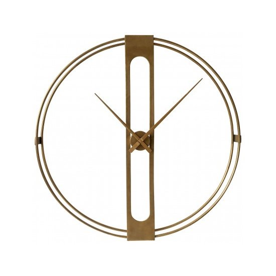 Beauly Metal Wall Clock In Gold