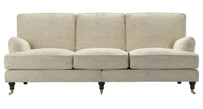 Bluebell 4 Seat Sofa in Alpaca Textured Boucle