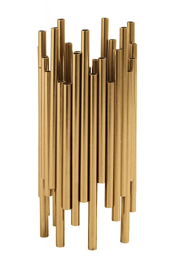 Brass Pipe Candle Holder - gft